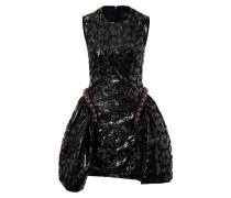 Kleid mit floralem Lack-Print