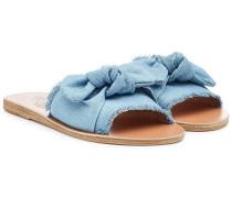 Sandalen aus Denim