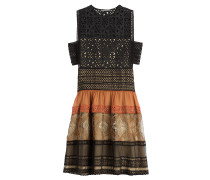 Flared-Dress mit Baumwolle und Spitze