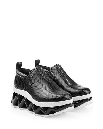 marc jacobs damen sneakers mit plateausohle reduziert. Black Bedroom Furniture Sets. Home Design Ideas