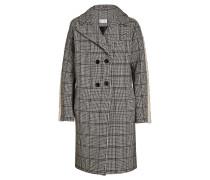 Gemusterter Mantel mit Wolle und Webpelz