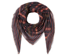 Bedruckter Schal mit Kaschmir