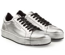 Leder-Sneakers im Metallic-Look