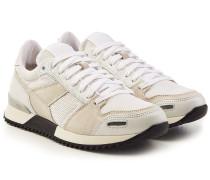 Sneakers aus Leder und Textil