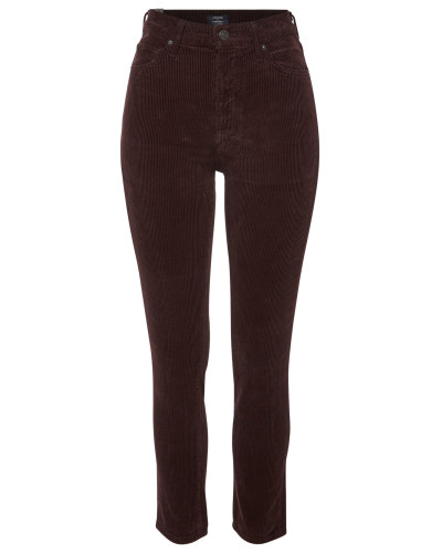 High Rise Slim Ankle Jeans Olivia aus Cord