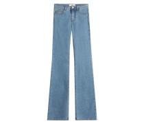 Flared-Jeans aus Baumwolle
