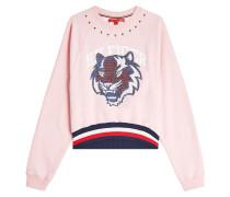 Verziertes Sweatshirt aus Baumwolle mit Nieten