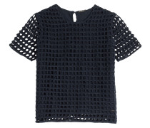 Häkelstrick-Shirt aus Baumwolle