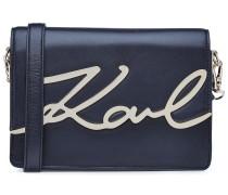 KARL LAGERFELD X STYLEBOP.com K/Signature Shoulder Bag in Midnight Blue