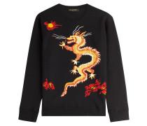Sweatshirt Funky Dragon aus Baumwolle mit Stickerei