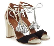 Sandalen aus Leder mit Quasten