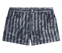 Denim-Shorts mit Sternen aus Baumwoll-Stretch