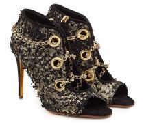 Open Toe Ankle Boots Nightingale Venus mit Leder und Décor