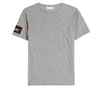 Baumwoll-Shirt mit Patchwork-Elementen