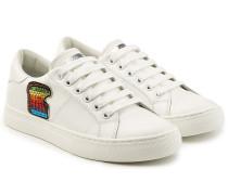 Sneakers aus Leder mit Patches