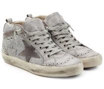 Sneakers Super Star aus Leder mit Glitzer