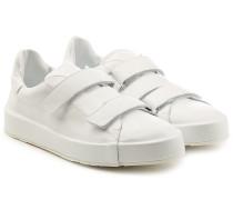 Sneakers aus Leder mit Klettverschluss