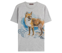 Baumwoll-Shirt mit Fuchs-Print