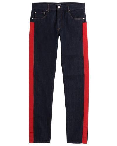alexander mcqueen herren jeans mit racing streifen reduziert. Black Bedroom Furniture Sets. Home Design Ideas