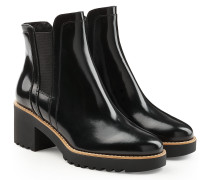 Chelsea Boots aus Lackleder mit Mid Heel