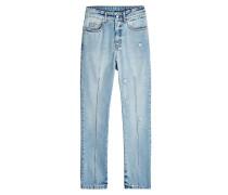 Cropped Jeans mit Ziernaht