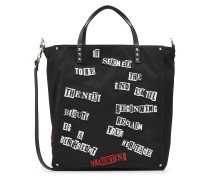 Shopper Rockstud aus Canvas mit Applikationen