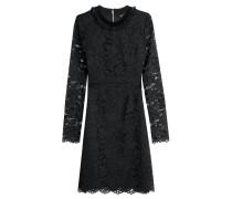 Spitzen-Kleid mit Rüschenkragen