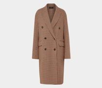 Mantel mit Hahnentritt-Muster