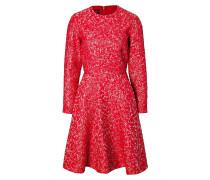 Flared-Dress aus Cloqué