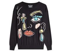 Bedruckter Pullover mit Schurwolle
