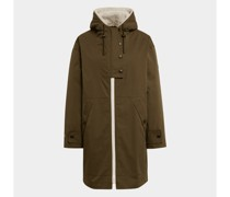 Mantel mit Fellbesatz
