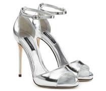 Stilettos aus Metallic-Leder