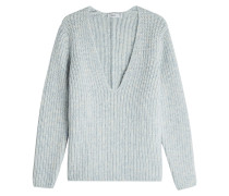 V-Pullover mit Alpaka und Wolle