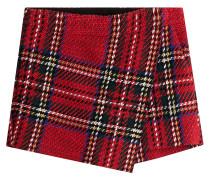 Karierte Shorts aus Baumwolle und Wolle