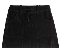 Mini-Skirt aus Veloursleder