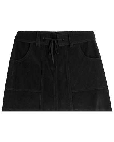 Mini-Skirt aus Veloursleder