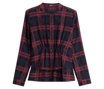 Geraffte Bluse aus Baumwolle