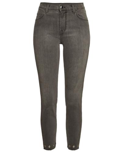 Verzierte High Rise Cropped Skinny Jeans Alana
