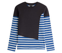 Baumwoll-Pullover mit Streifen