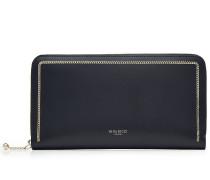 Leder-Portemonnaie mit Kettendetail