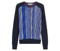 Strick-Pullover mit Print und Muster