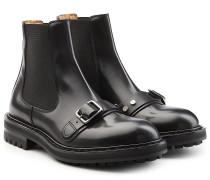 Chelsea Boots aus Leder mit Schnalle