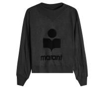 Print-Sweatshirt aus Leinen