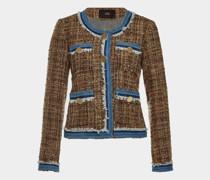 Tweed-Blazer mit Denim