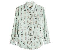 Bedruckte Bluse aus Ramie