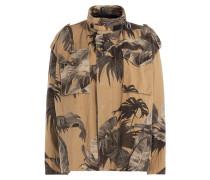 Baumwoll-Jacke mit Palmen-Print