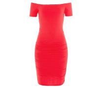 Drapiertes Off-Shoulder-Kleid