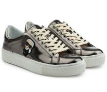Sneakers aus beschichtetem Leder