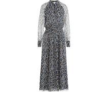 Print-Kleid aus Seidenchiffon