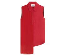 Ärmellose Bluse mit asymmetrischem Saum